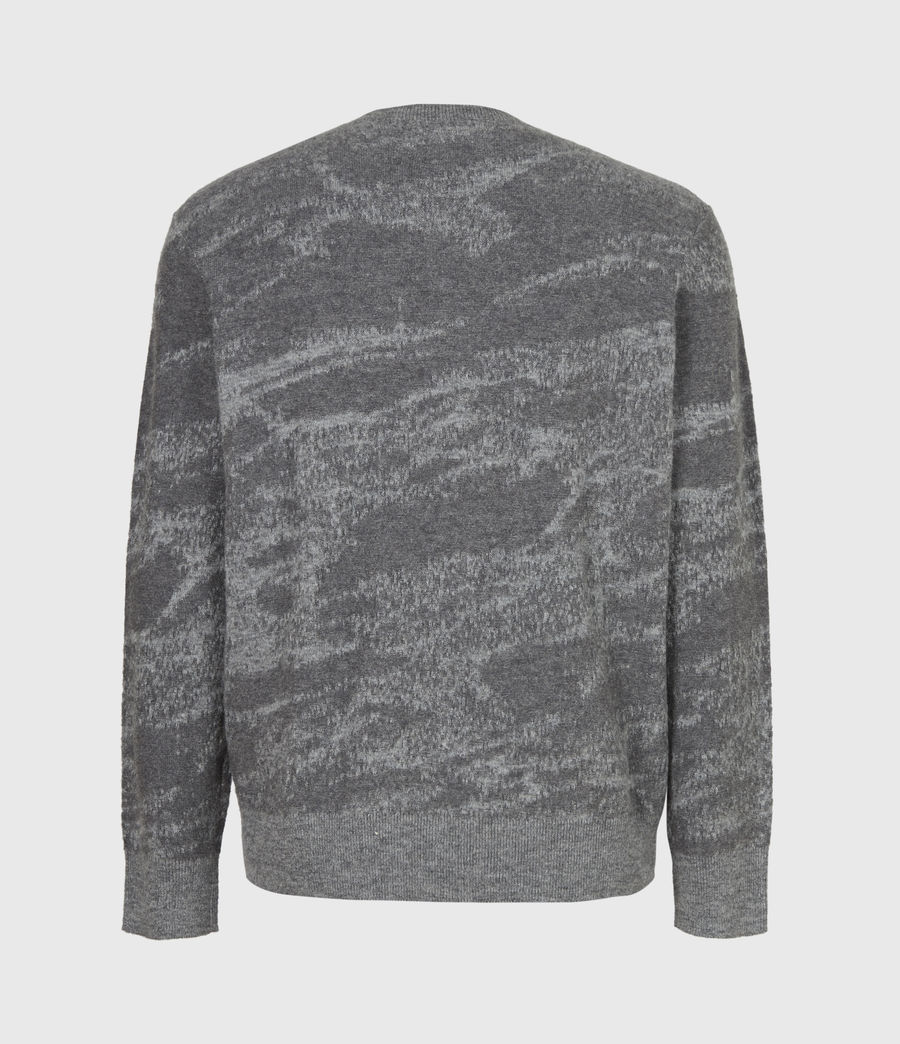 Mens Enzo Crew Sweater (grey_marl) - Image 3