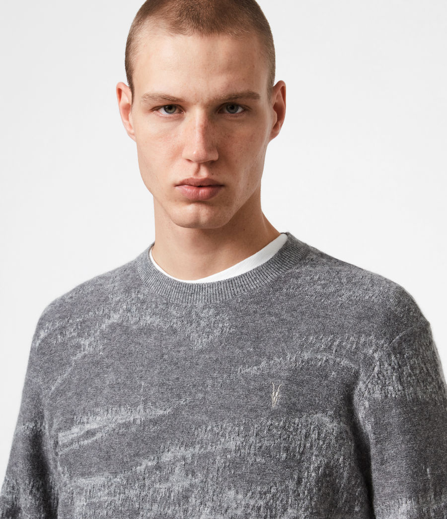 Mens Enzo Crew Sweater (grey_marl) - Image 4