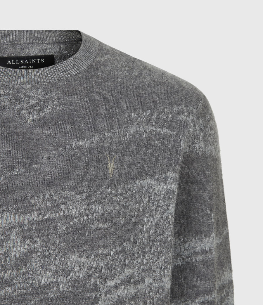 Mens Enzo Crew Sweater (grey_marl) - Image 5