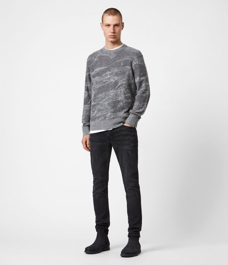 Mens Enzo Crew Sweater (grey_marl) - Image 6