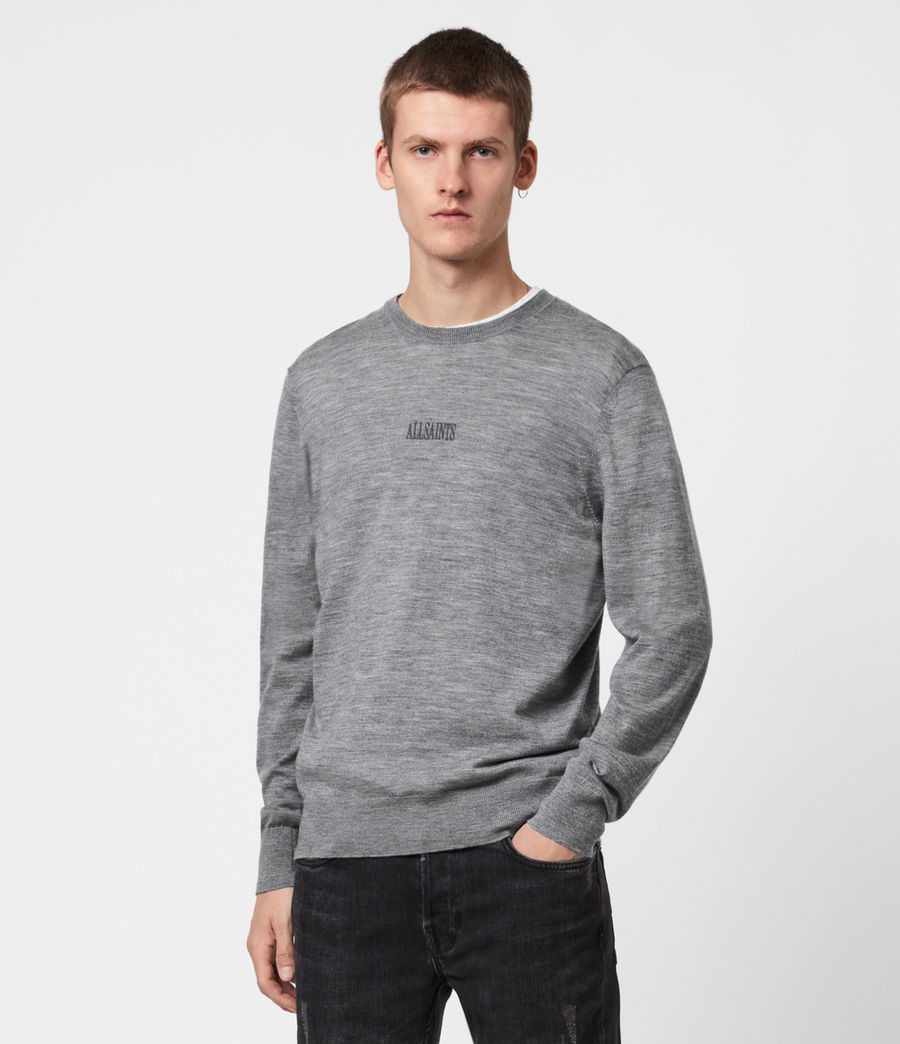 Mens Stat Merino Crew Sweater (grey_marl) - Image 1