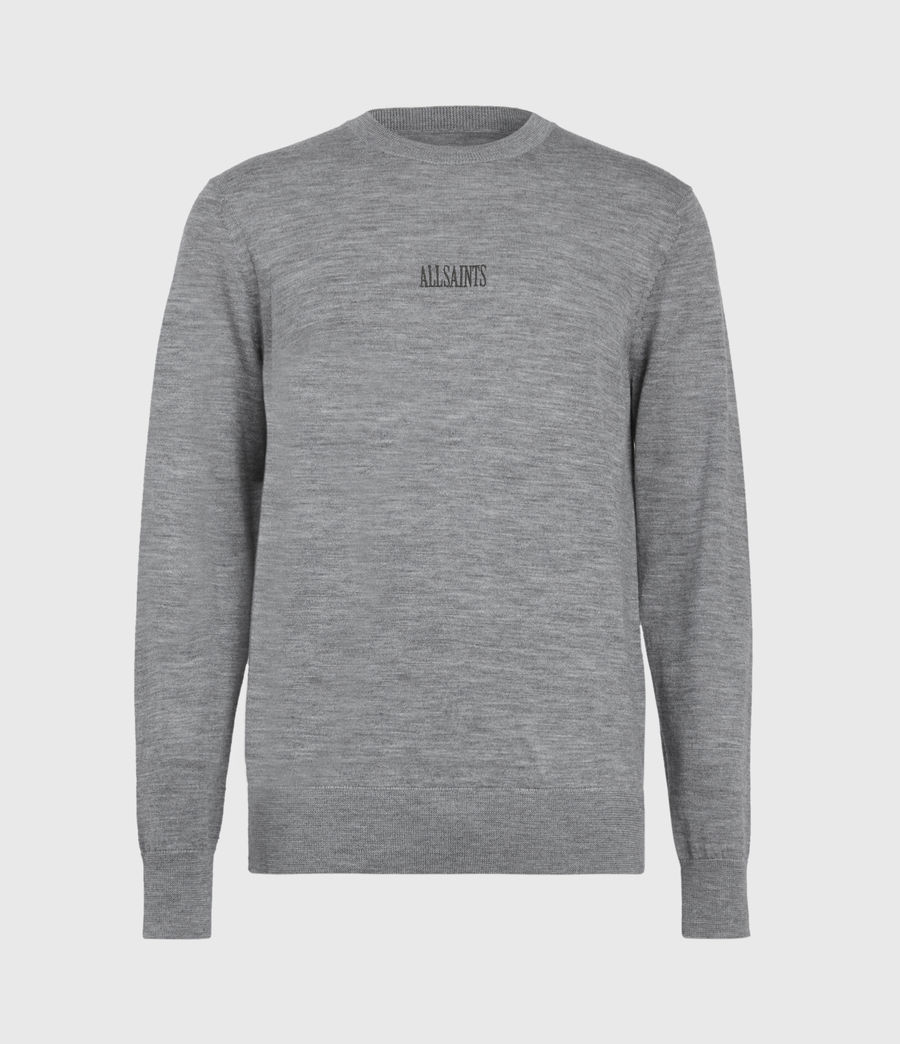 Mens Stat Merino Crew Sweater (grey_marl) - Image 2