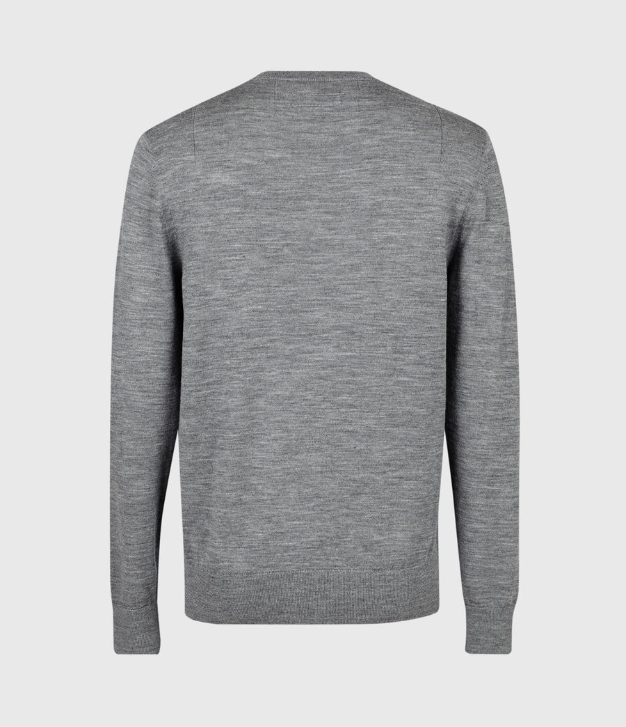 Mens Stat Merino Crew Sweater (grey_marl) - Image 3