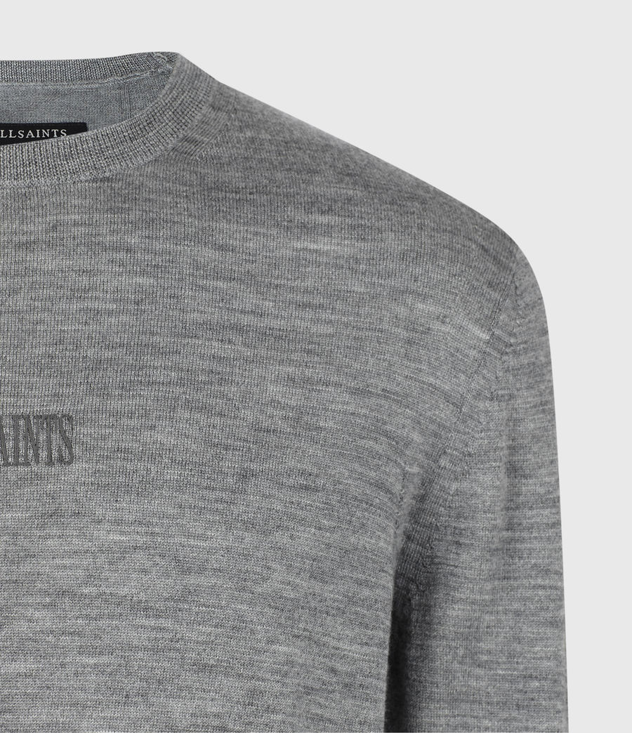 Mens Stat Merino Crew Sweater (grey_marl) - Image 4