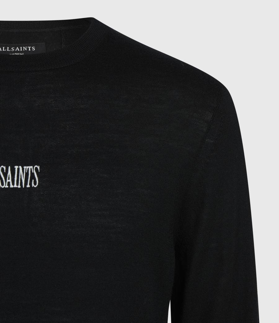 Men's Stat Merino Crew Jumper (black) - Image 6