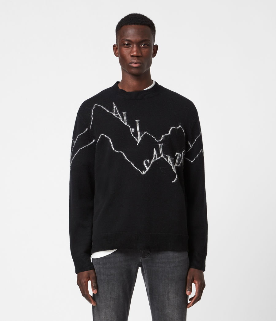 Mens Mount Saints Crew Sweater (black) - Image 1