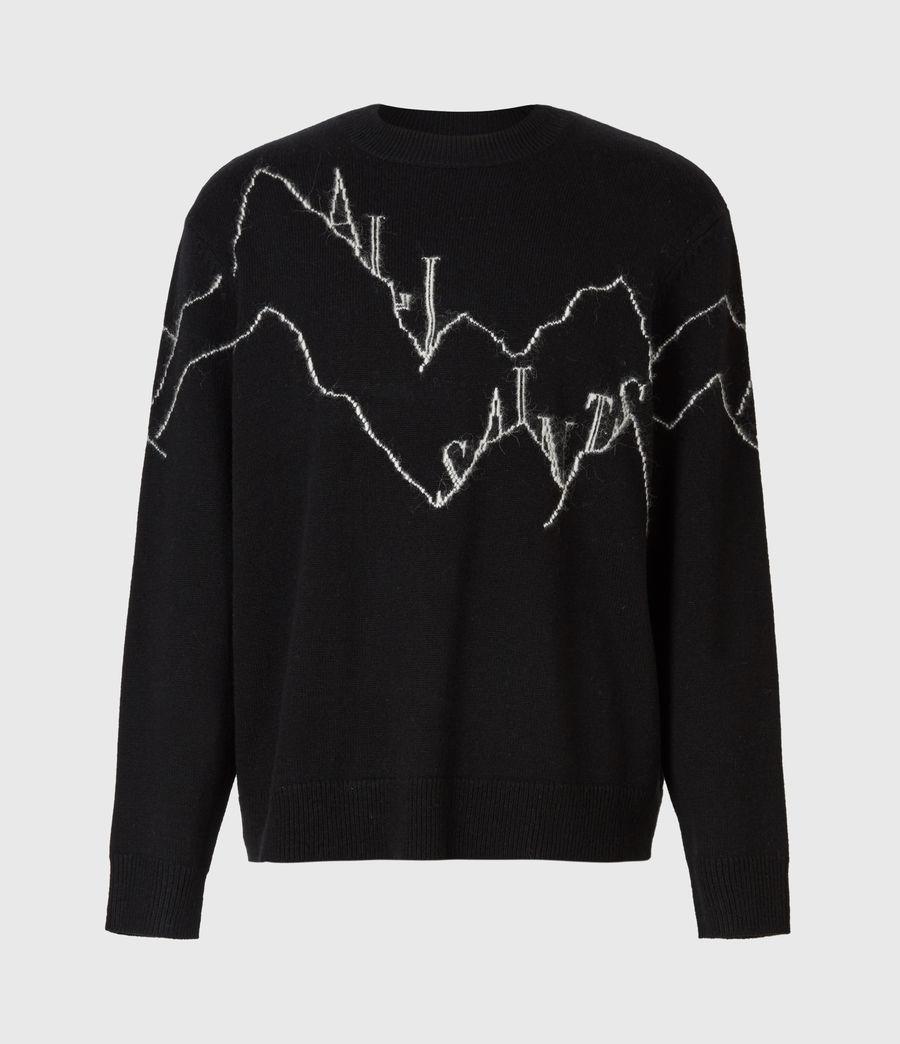 Mens Mount Saints Crew Sweater (black) - Image 2