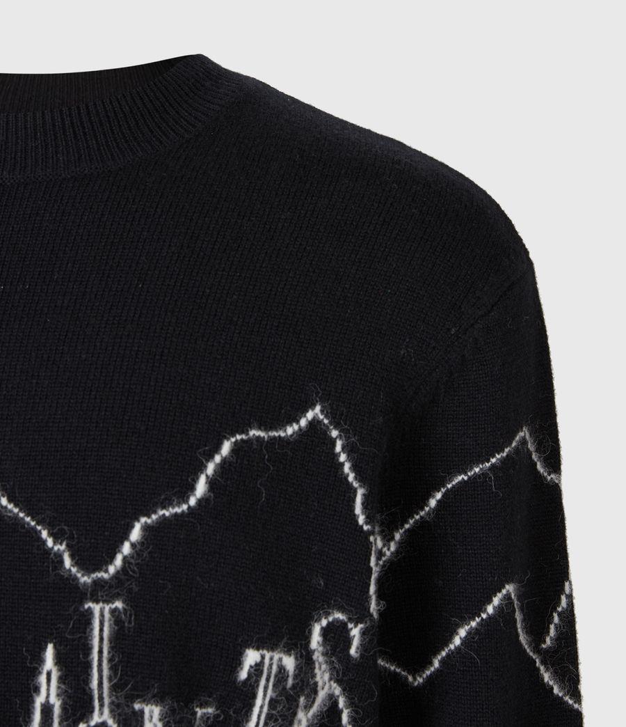 Mens Mount Saints Crew Sweater (black) - Image 4