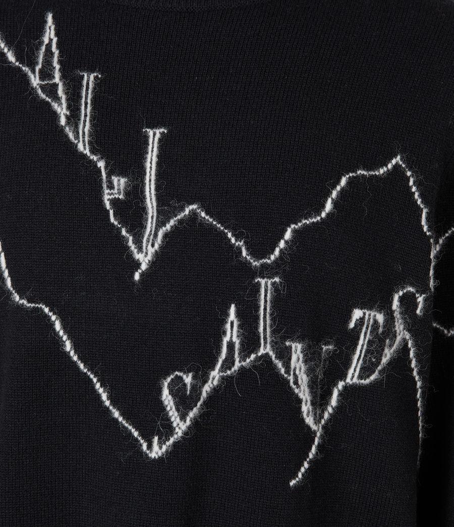 Mens Mount Saints Crew Sweater (black) - Image 5