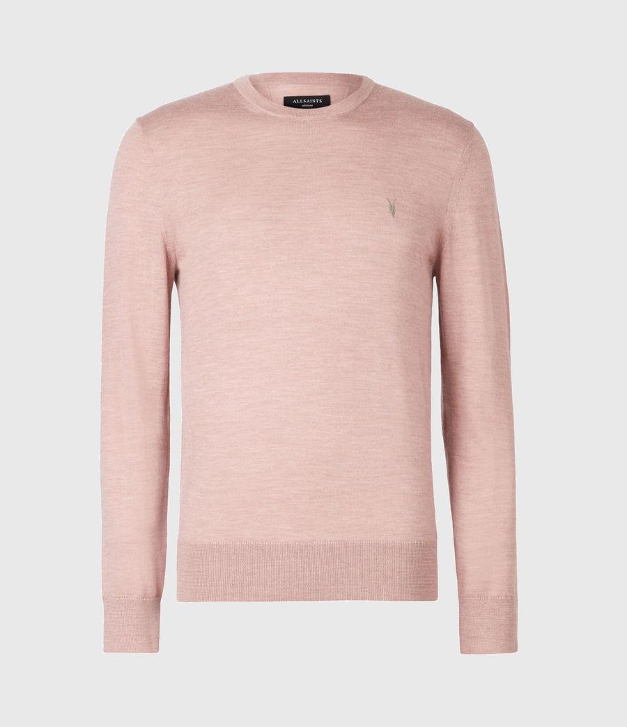 Mens Mode Merino Crew Sweater (balsastone_pink_ml) - Image 2
