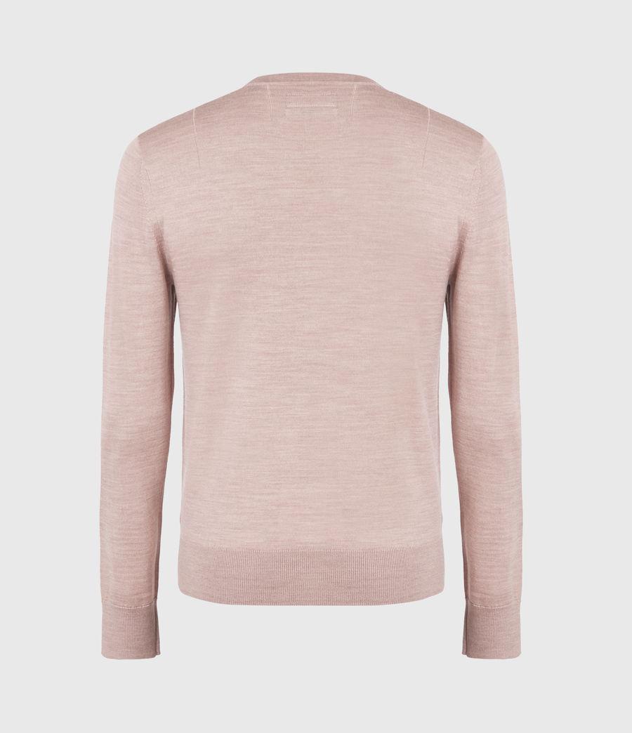 Mens Mode Merino Crew Sweater (balsastone_pink_ml) - Image 3