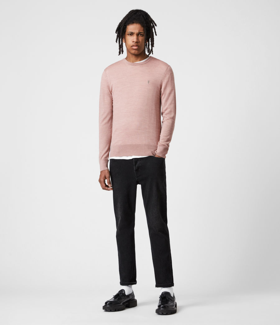 Mens Mode Merino Crew Sweater (balsastone_pink_ml) - Image 4