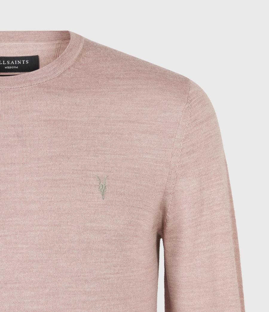 Mens Mode Merino Crew Sweater (balsastone_pink_ml) - Image 5