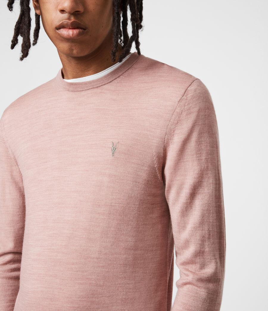 Mens Mode Merino Crew Sweater (balsastone_pink_ml) - Image 6