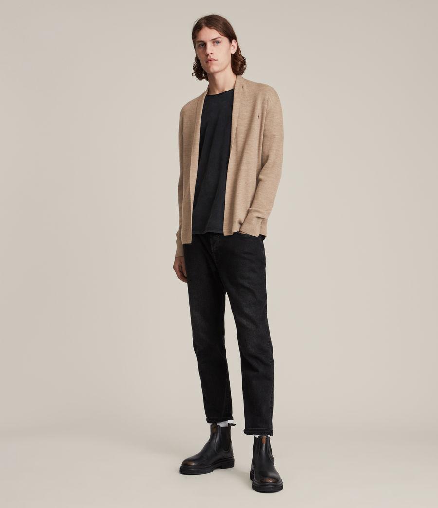 Men's Mode Merino Open Cardigan (smoked_brown_marl) - Image 3