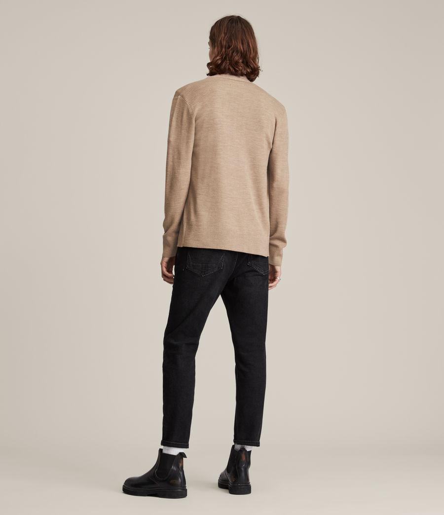 Men's Mode Merino Open Cardigan (smoked_brown_marl) - Image 6