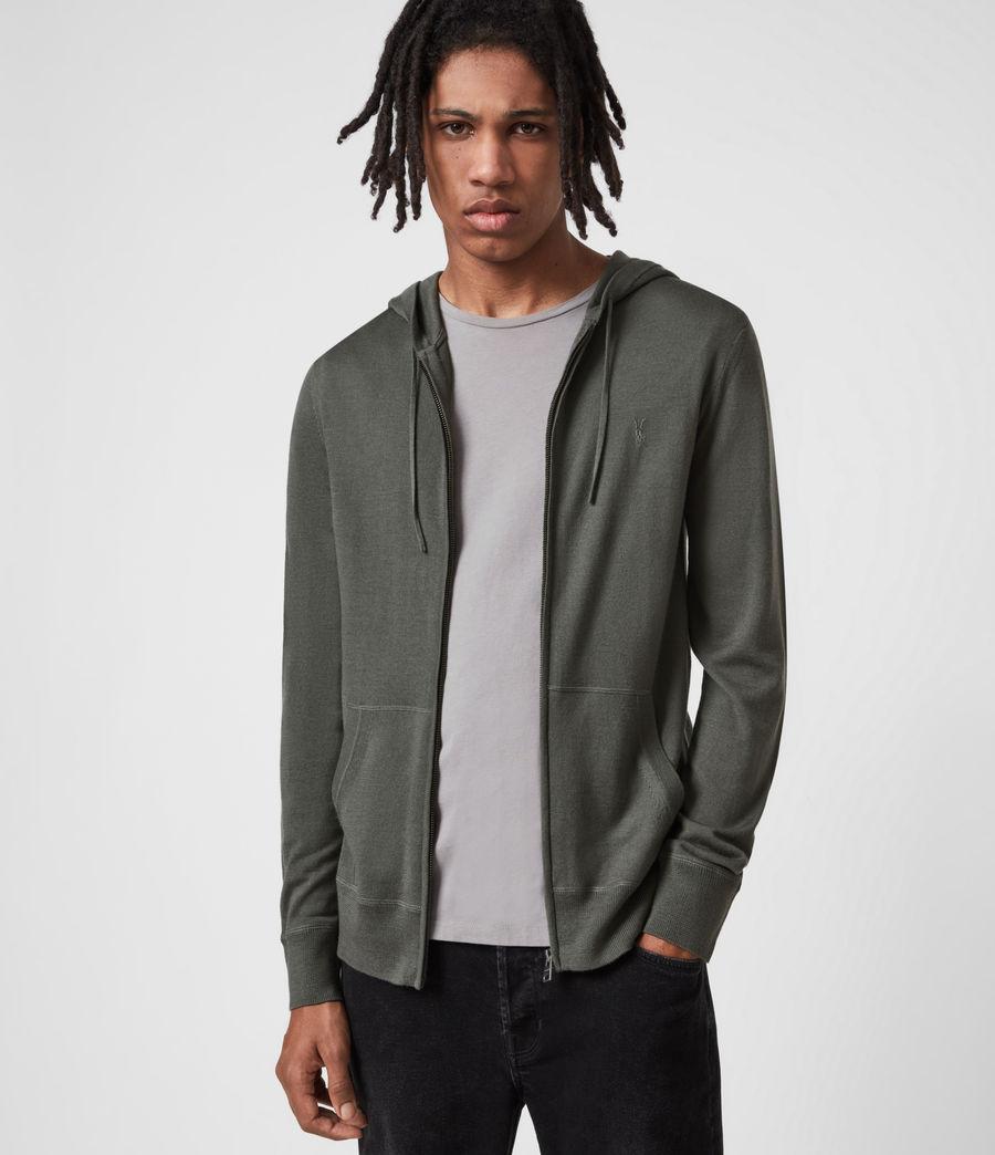 Herren Mode Merino Zip Hood (sacremento_green) - Image 6