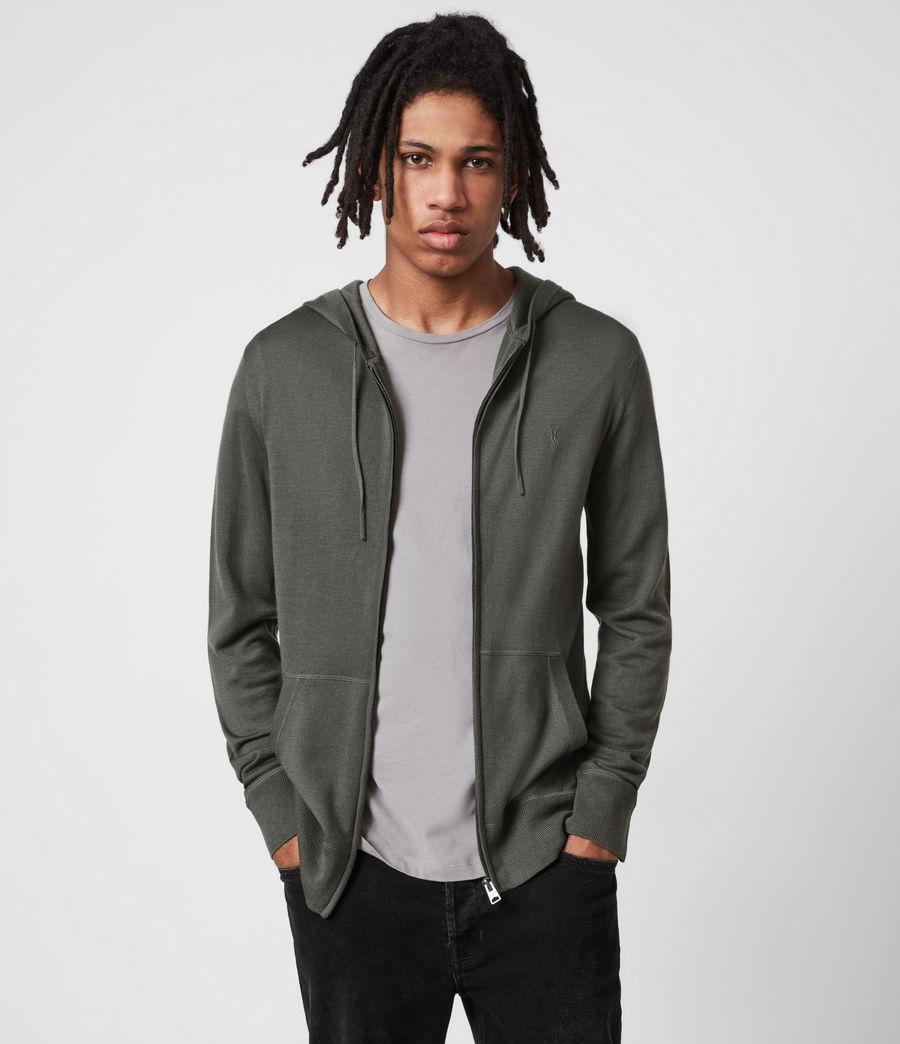 Herren Mode Merino Zip Hood (sacremento_green) - Image 7