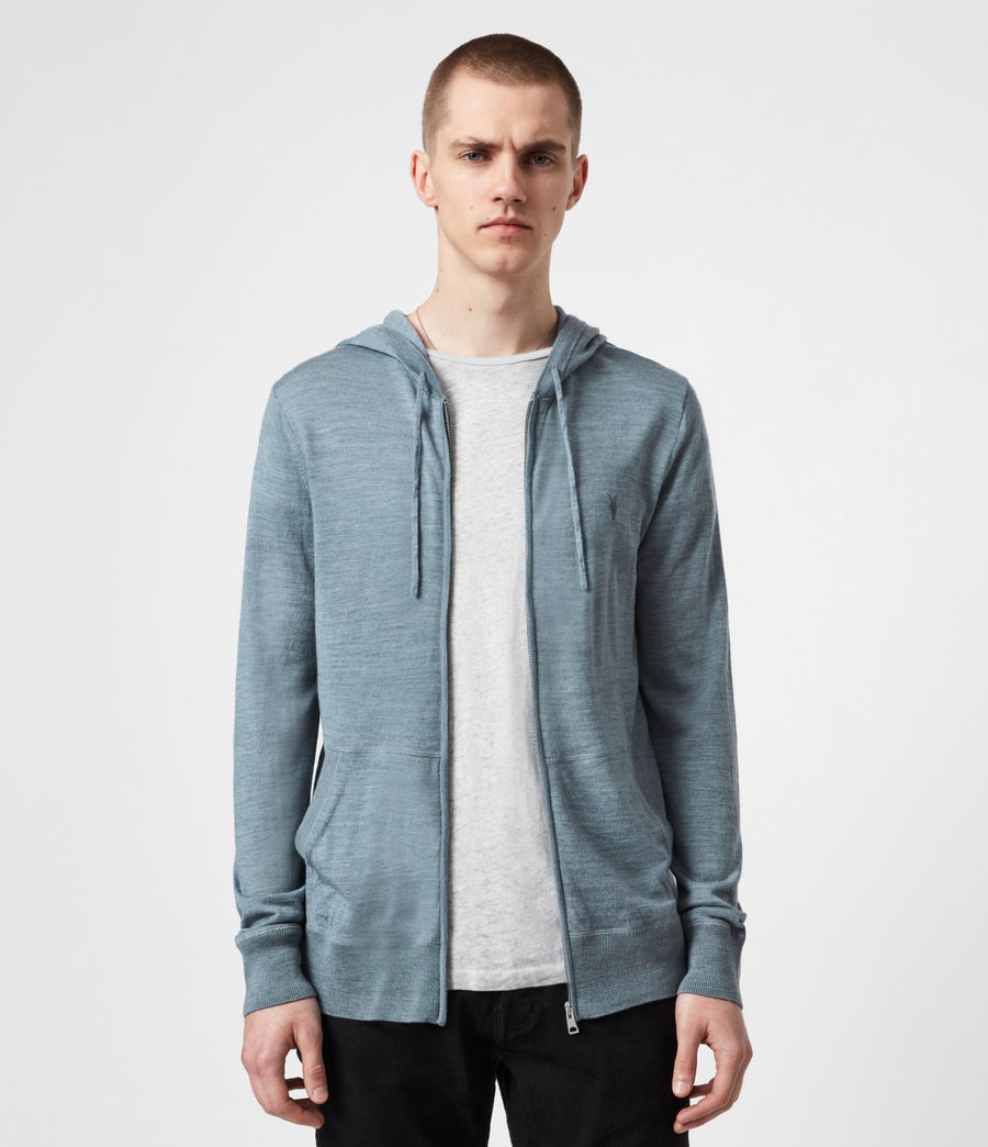 Mens Mode Merino Zip Hoodie (twilight_blue_marl) - Image 1