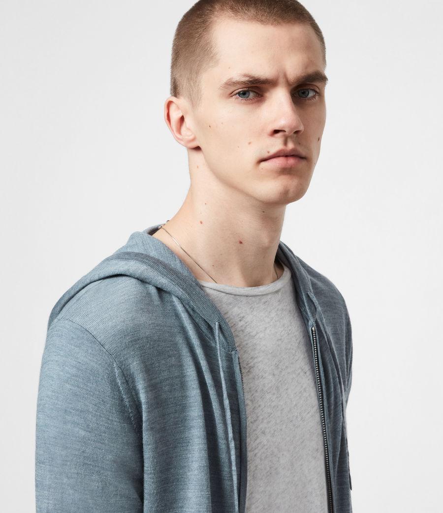 Mens Mode Merino Zip Hoodie (twilight_blue_marl) - Image 4