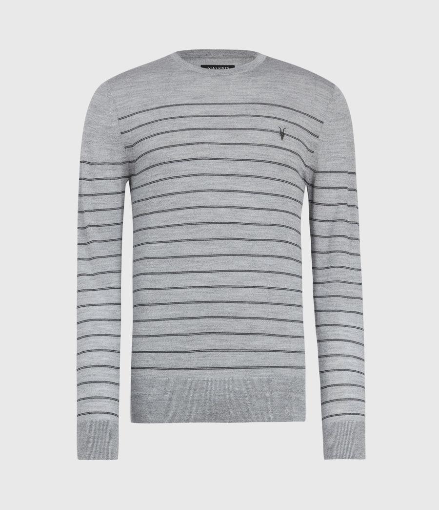 Men's Mode Merino Stripe Jumper (fog_grey_mouline) - Image 2