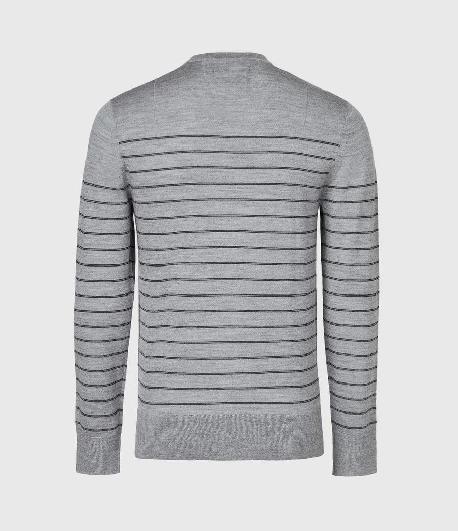 Men's Mode Merino Stripe Jumper (fog_grey_mouline) - Image 3