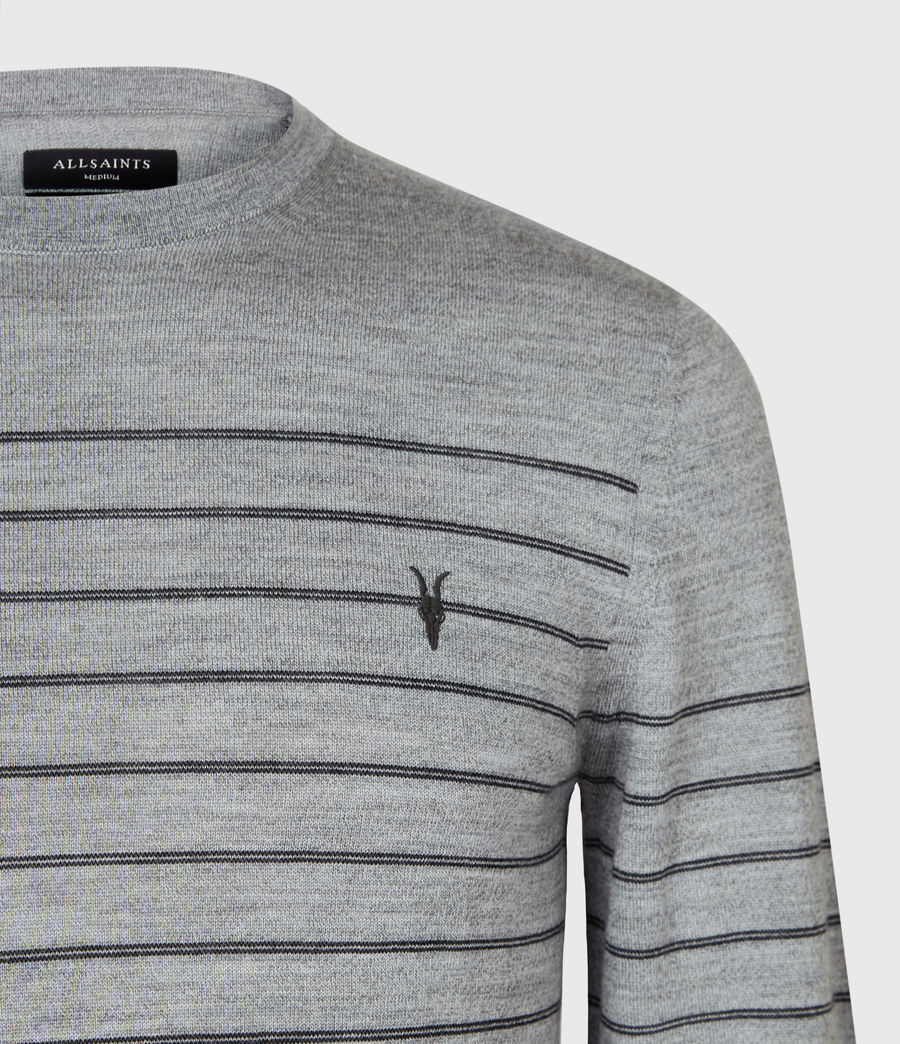 Men's Mode Merino Stripe Jumper (fog_grey_mouline) - Image 4