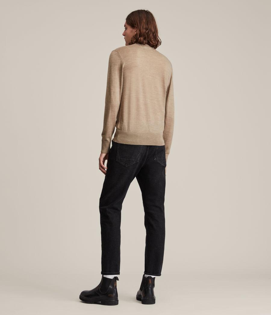 Herren Mode Merino Long Sleeve Polo Shirt (smoked_brown_marl) - Image 4