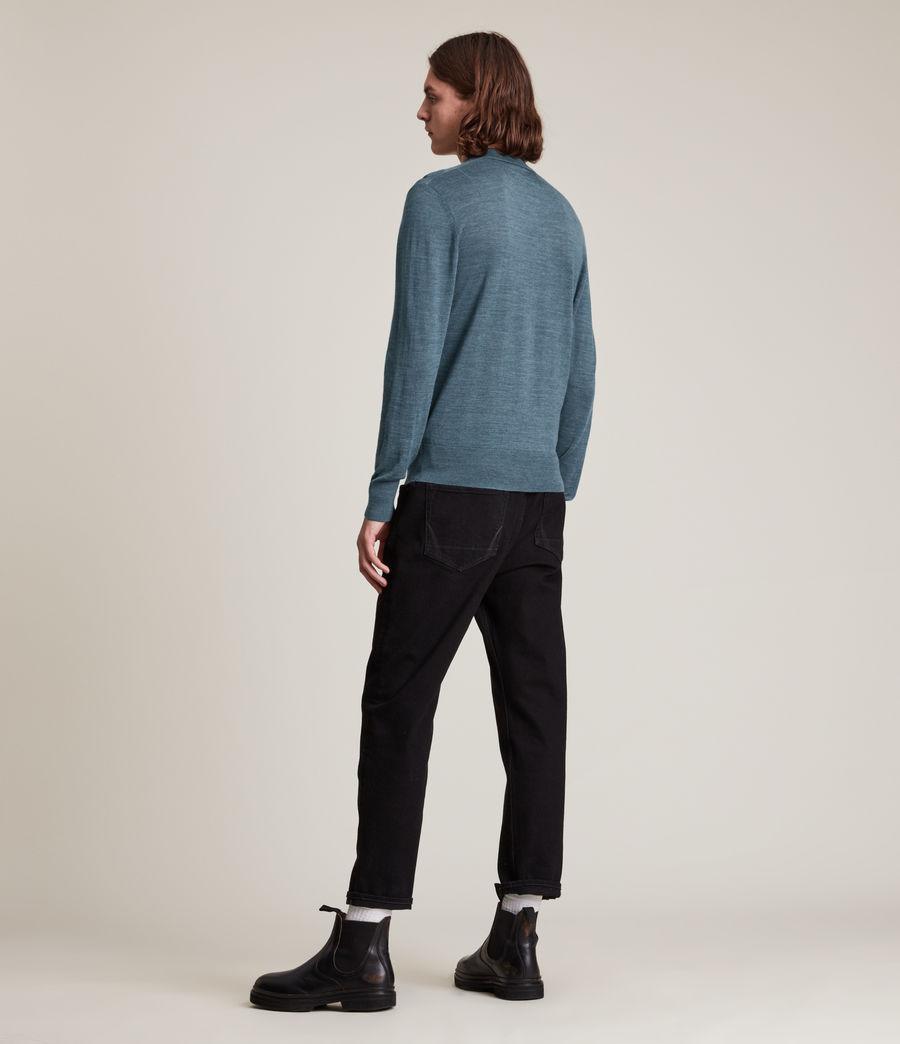 Herren Mode Merino Long Sleeve Polo Shirt (adventurer_blue_ml) - Image 4