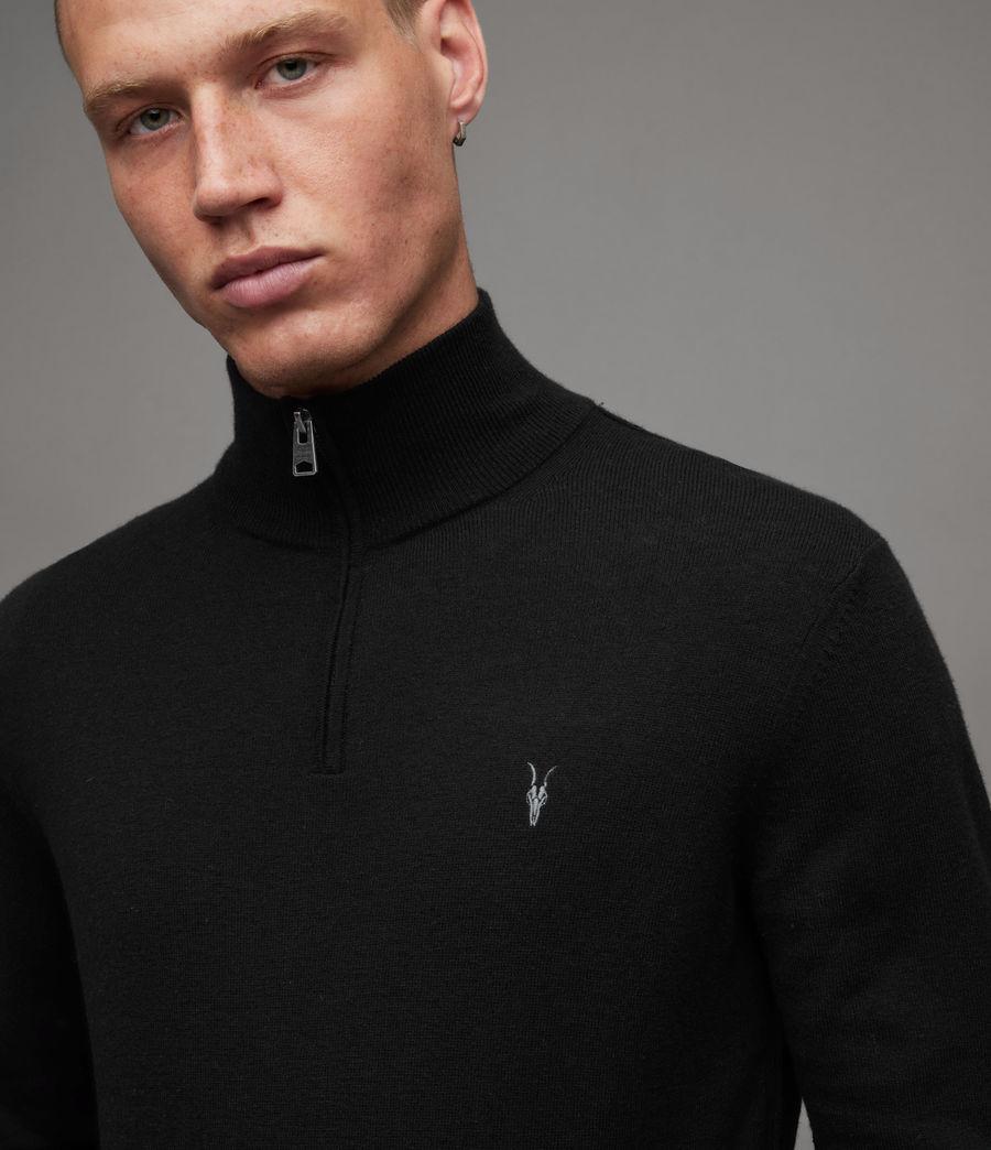 Mens Kilburn Zip Funnel Sweater (black) - Image 2