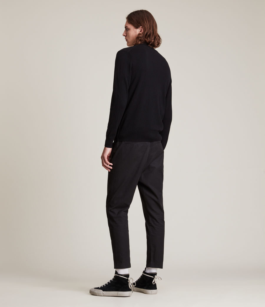 Mens Kilburn Zip Funnel Sweater (black) - Image 3