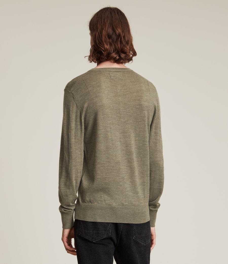 Herren Mode Merino Long Sleeve Henley (nettle_green_marl) - Image 4