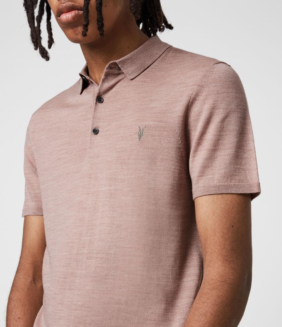 Herren Mode Merino Short Sleeve Polo Shirt (balsastone_pink_ml) - Image 1