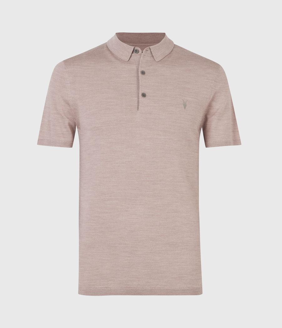 Herren Mode Merino Short Sleeve Polo Shirt (balsastone_pink_ml) - Image 2
