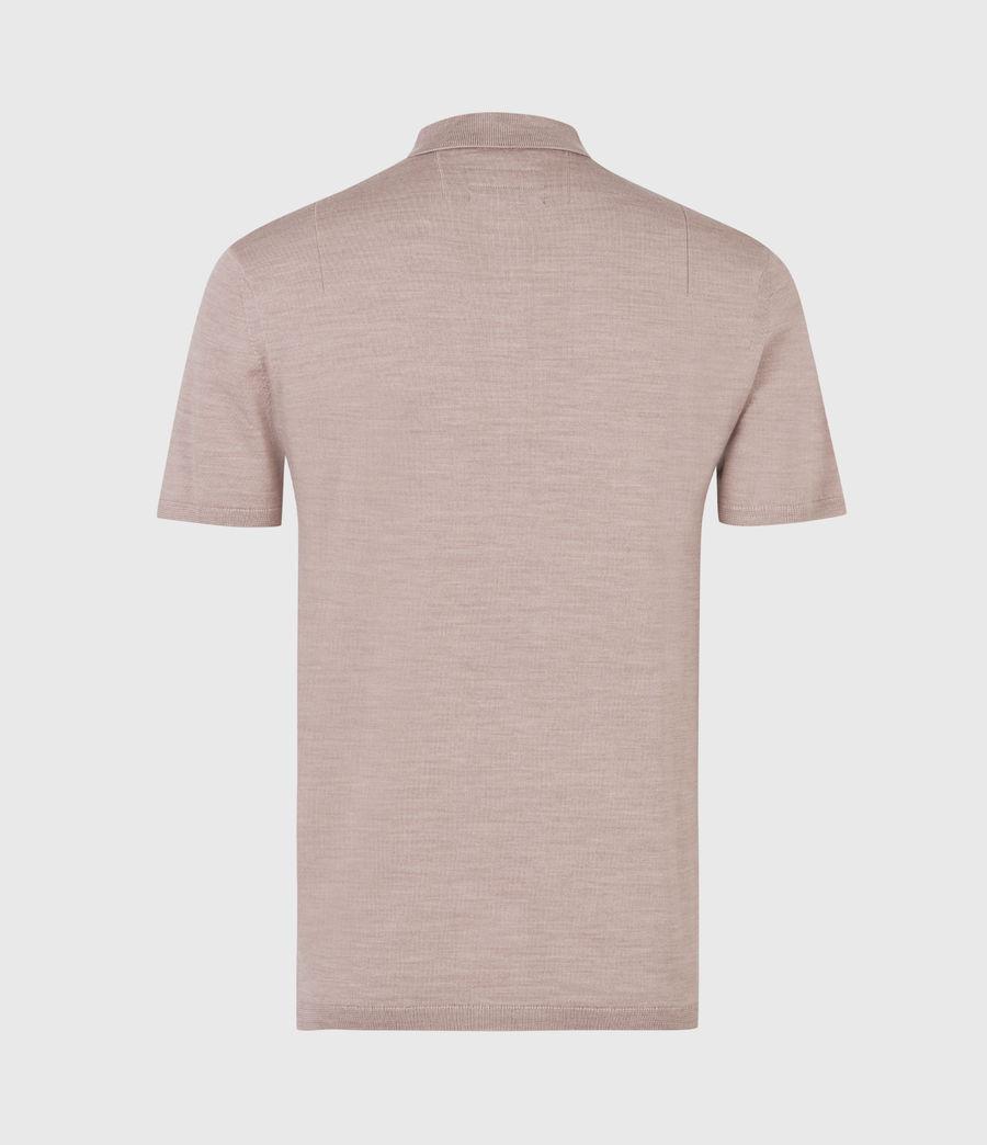 Herren Mode Merino Short Sleeve Polo Shirt (balsastone_pink_ml) - Image 3