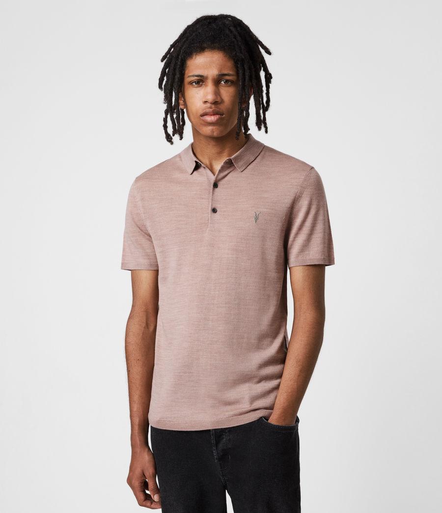 Herren Mode Merino Short Sleeve Polo Shirt (balsastone_pink_ml) - Image 4