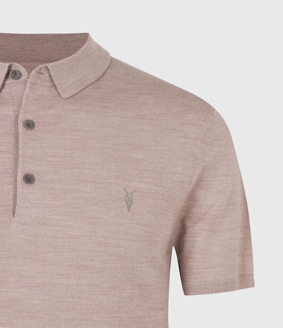 Herren Mode Merino Short Sleeve Polo Shirt (balsastone_pink_ml) - Image 5