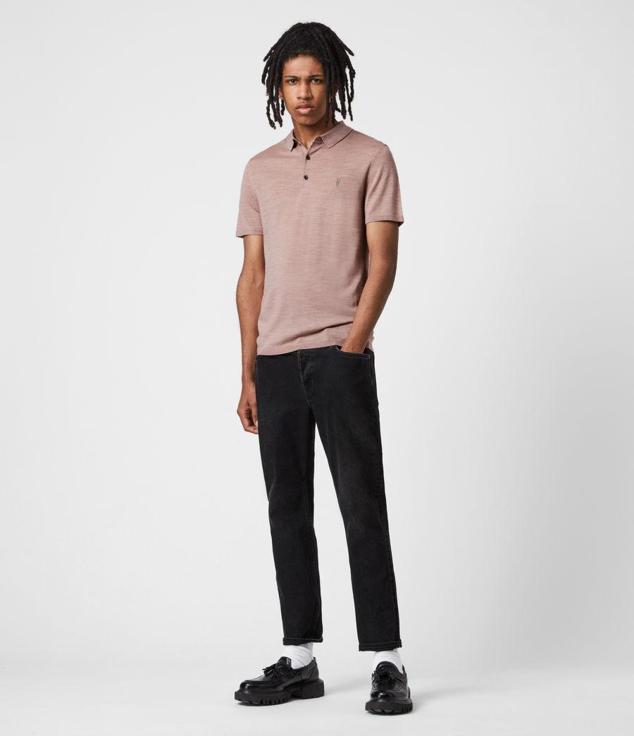 Herren Mode Merino Short Sleeve Polo Shirt (balsastone_pink_ml) - Image 6