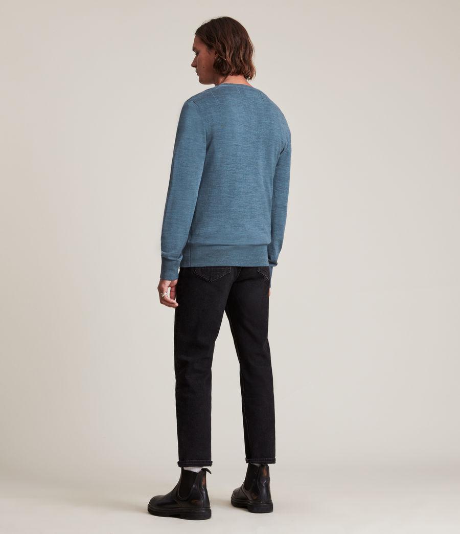 Hommes Mode Merino Long Sleeve Henley (adventurer_blue_ml) - Image 4