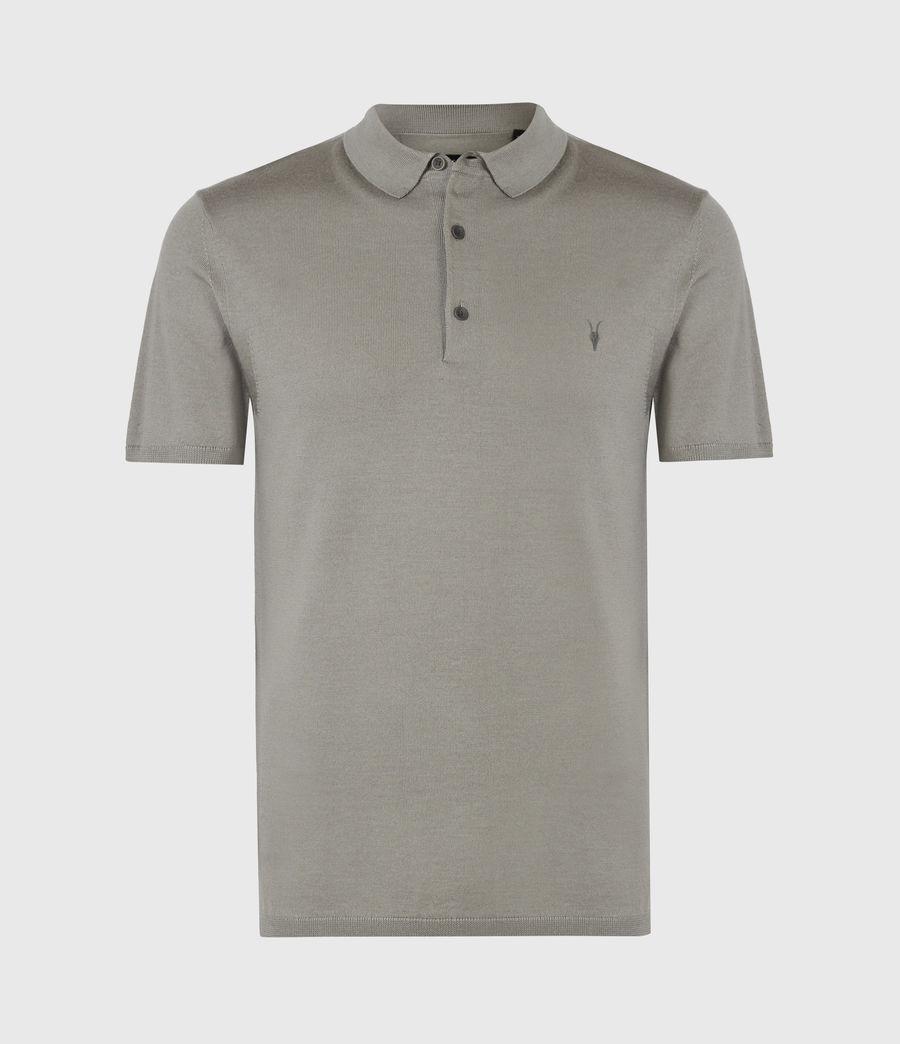 Hommes Mode Merino Short Sleeve Polo Shirt (calke_green) - Image 2