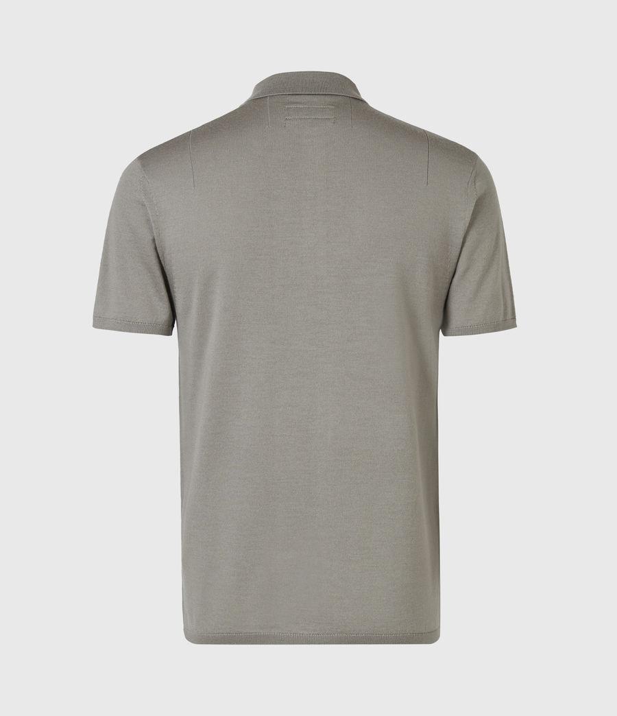 Hommes Mode Merino Short Sleeve Polo Shirt (calke_green) - Image 3