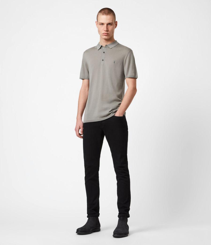 Hommes Mode Merino Short Sleeve Polo Shirt (calke_green) - Image 4