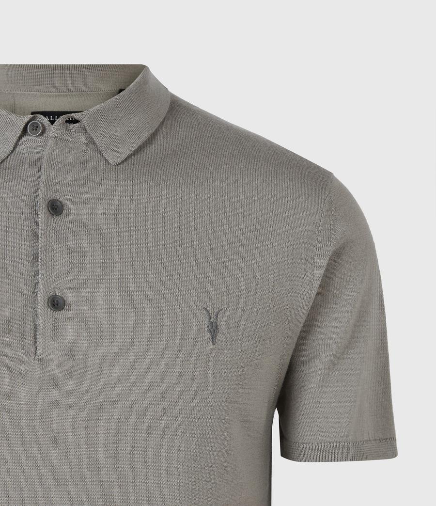 Hommes Mode Merino Short Sleeve Polo Shirt (calke_green) - Image 5