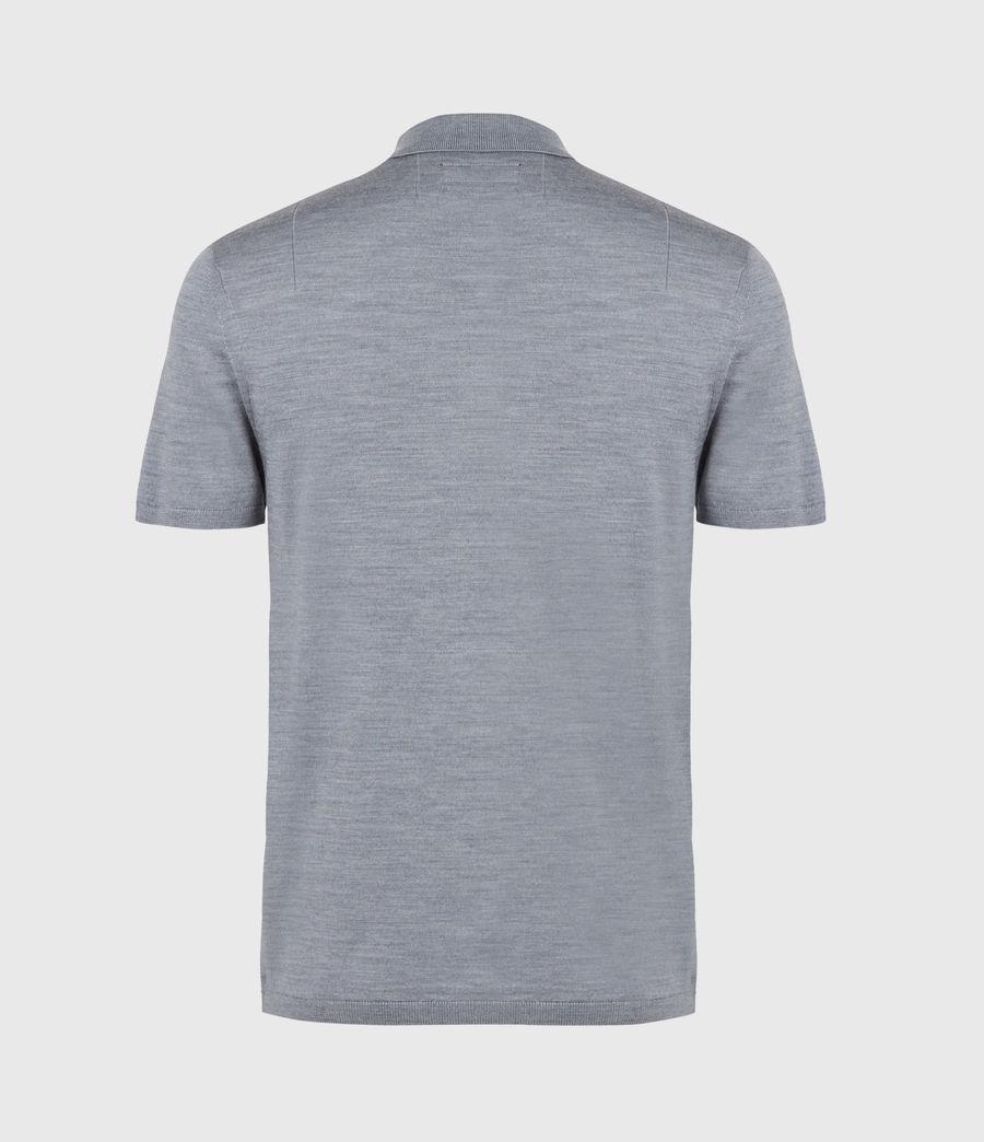 Herren Mode Merino Short Sleeve Polo Shirt (twilight_blue_marl) - Image 3