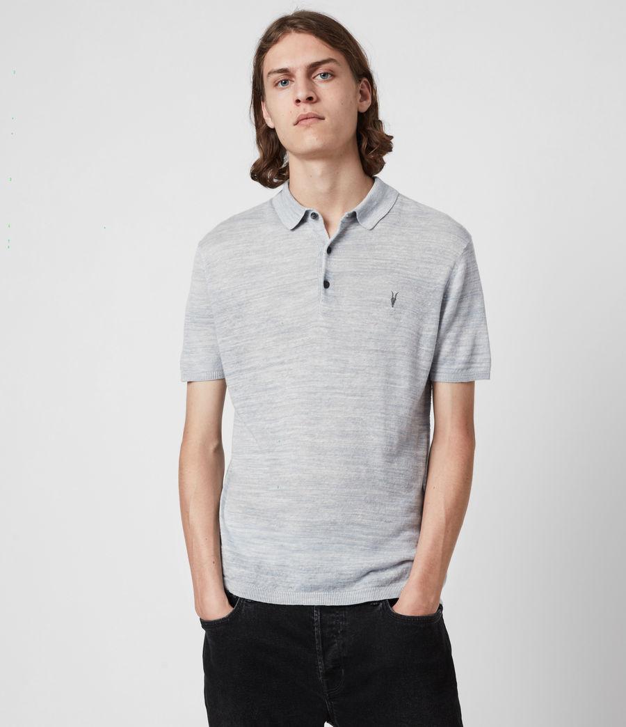 Herren Joshua Short Sleeve Polo Shirt (breezy_blue_marl) - Image 1