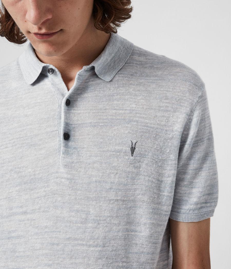 Herren Joshua Short Sleeve Polo Shirt (breezy_blue_marl) - Image 4