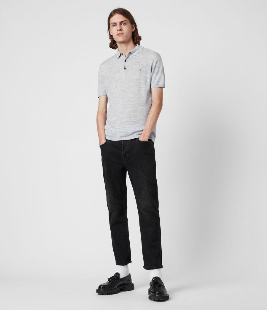 Herren Joshua Short Sleeve Polo Shirt (breezy_blue_marl) - Image 5