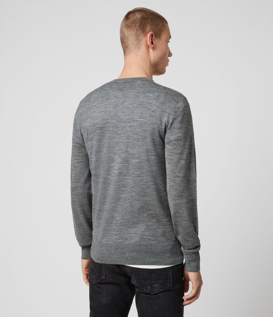 Men's Mode Merino Crew Jumper (oil_green_mouline) - Image 4