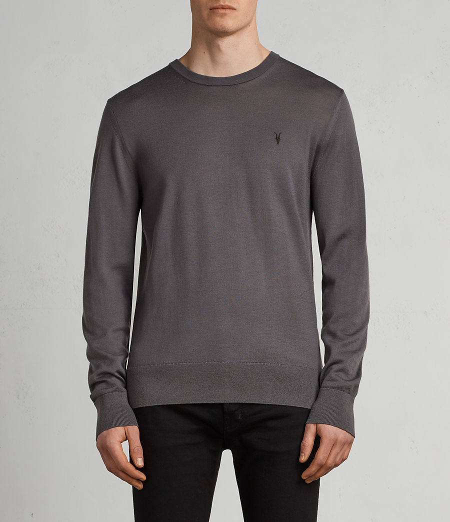 Men's Mode Merino Crew Jumper (slate_grey) - Image 1