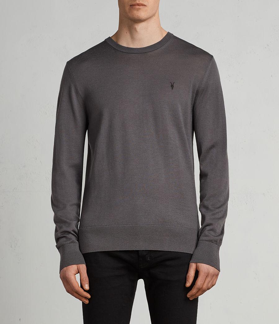 Herren Mode Merino Pullover (slate_grey) - Image 1